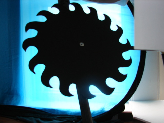 Saw Blade Shadow Puppet