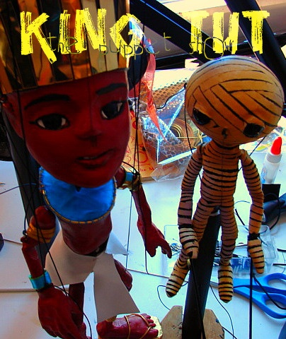 ''King Tut the marionette and the Mummy, a rod puppet.