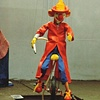 FireMan Clown Unicyclist