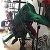 Backstage with the Dragon marionette