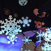 Fox marionette with snowflakes