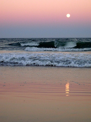 Moon over Ormond Beach FL