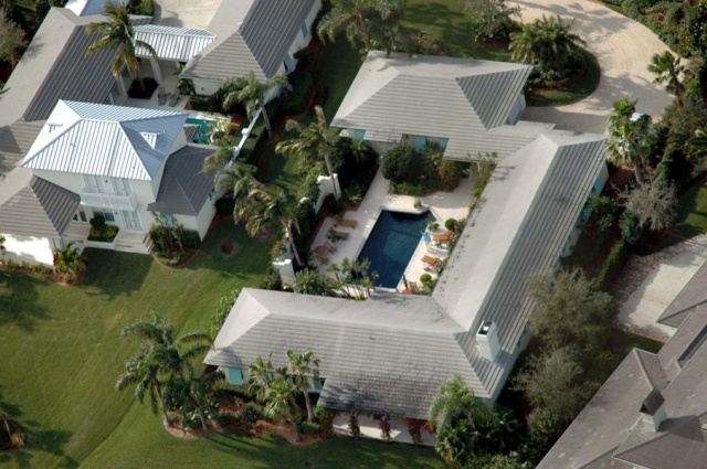 Aerial of homes, FL