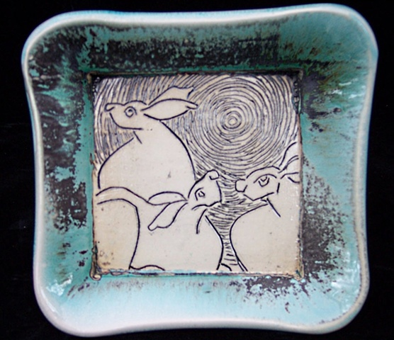 Rabbits/ sq bowl SOLD