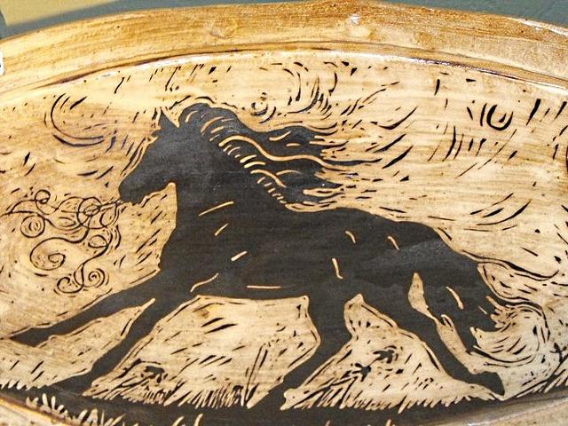 Black Horse Oval Platter