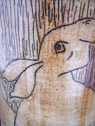 Rabbit Vase Closeup