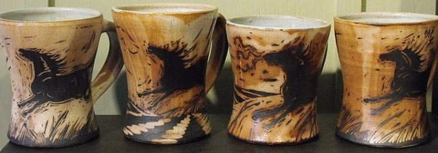 4 Horse Mugs  All SOLD