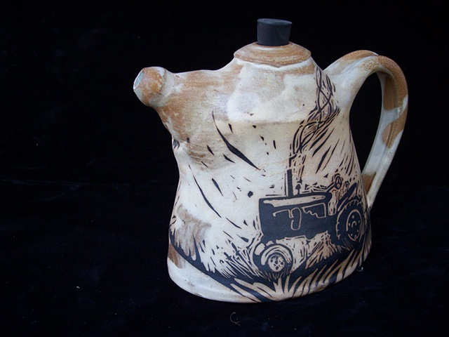 Tractor Teapot