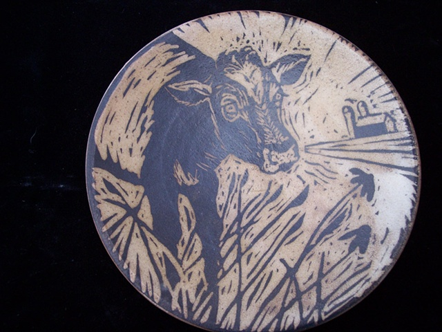 Cow Plate SOLD