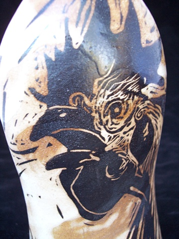 Rooster Bottle Closeup