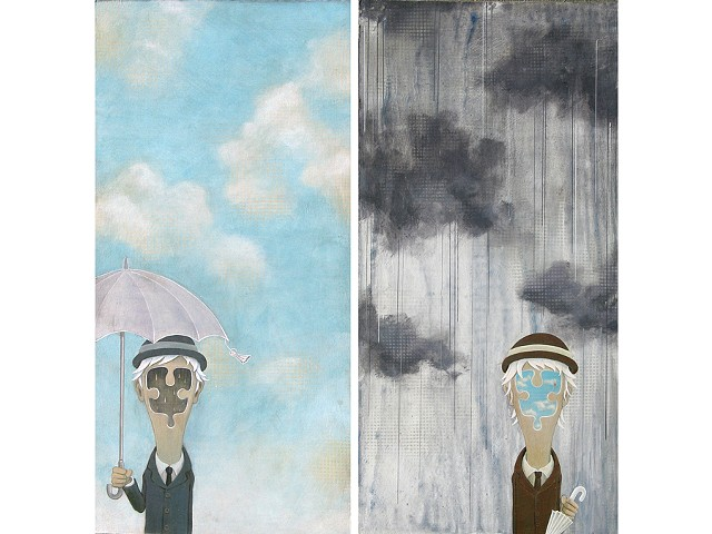 "left: "" sunny day with a chance of the rain "" right: "" rainy day with a chance of the sun """