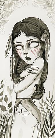#17 8x20 acrylic on paper