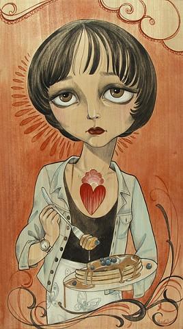 """""""Fabienne"""" from Pulp Fiction  http://store.spoke-art.com/products/sandi-calistro-fabienne-pulp-fiction Spoke Art Gallery """