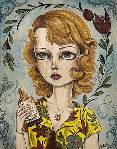 Dolores Chanel for sale through |http://store.spoke-art.com/products/sandi-calistro-dolores-chanel|Spoke Art Gallery|