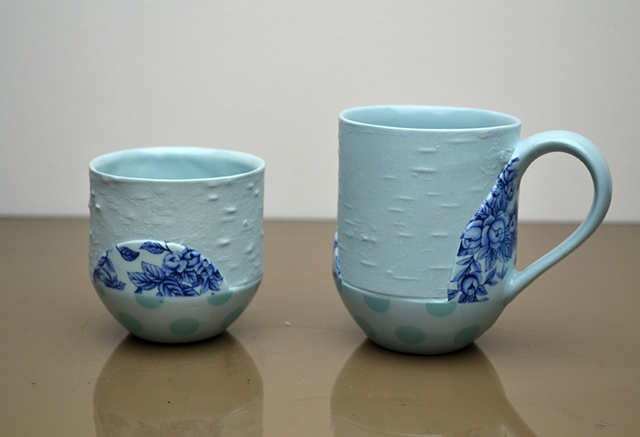 TURQUOISE BIRCH DOT CUPS