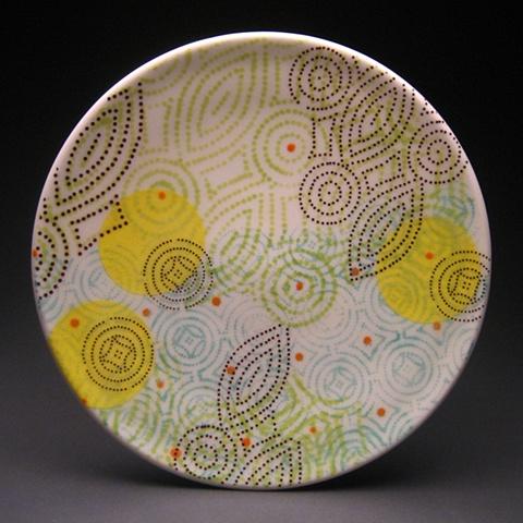 Meredith Host Ceramics Porcelain DotDotDash Salad Plate