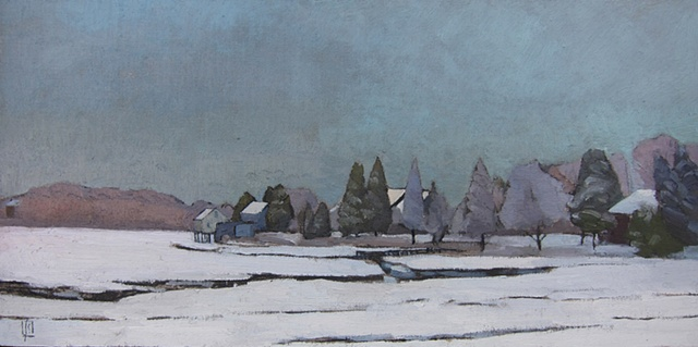 Macomber's Ridge, Snow Scene, Dutch Landscape