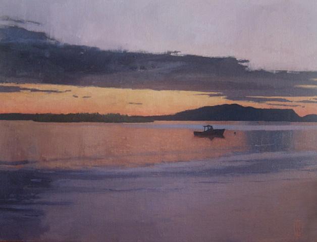 Dusk, Little Cranberry Harbor, ME
