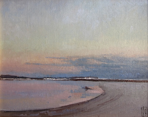 Damon's Point in winter, Marshfield, MA