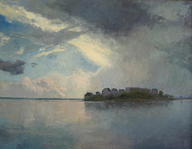 Approaching Storm, Spinnaker Island