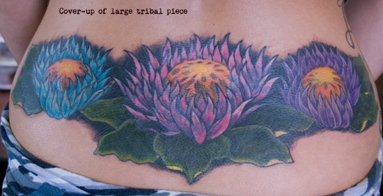 After - covering large tribal piece