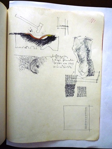 Study of Large Female Torso by Julio Gonzalez