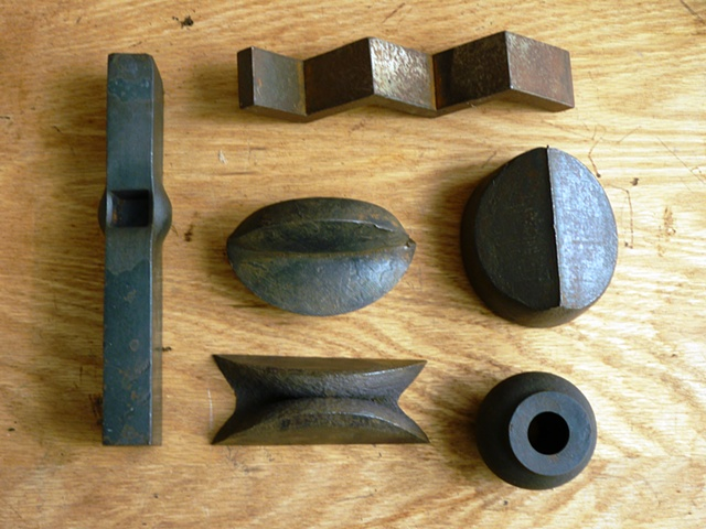Some punched, sheared,  sawn, welded & squashed stuff.