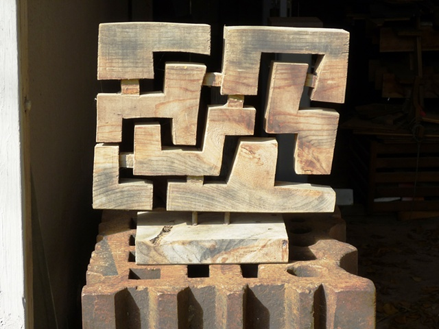 Sculpture study from pattern