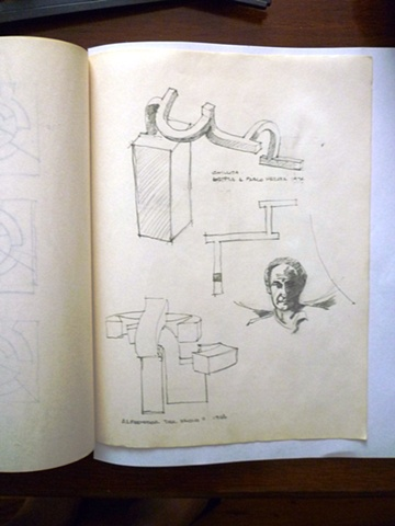 Study of two pieces by - & a small portrait of - Eduardo Chillida