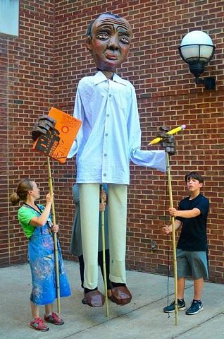 James Baldwin Processional Puppet