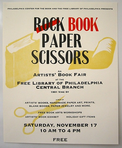 Book Paper Scissors - Event Poster