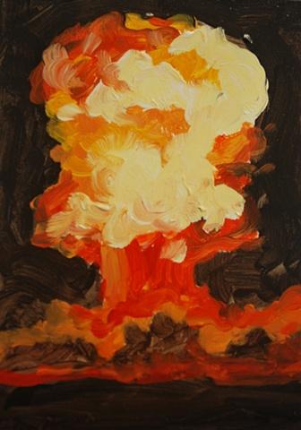 Mushroom Cloud Painting 5