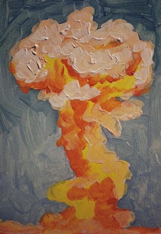 Mushroom Cloud Painting 6