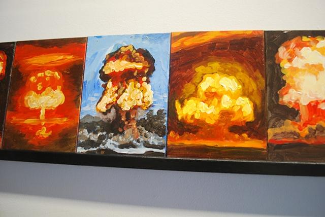 Mushroom Cloud Paintings (Group)