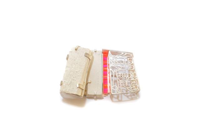 brooch, skulls, cosmic buddha, contemporary art jewelry