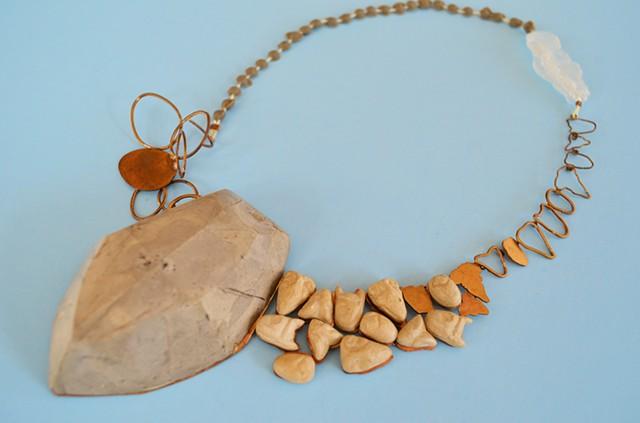 necklace, Concrete, Willendorf Venus, bronze