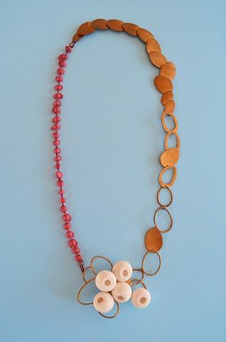 necklace, porcelain, bronze, eggs