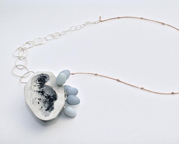 Necklace, Silver, Concrete, Willendorf Venus
