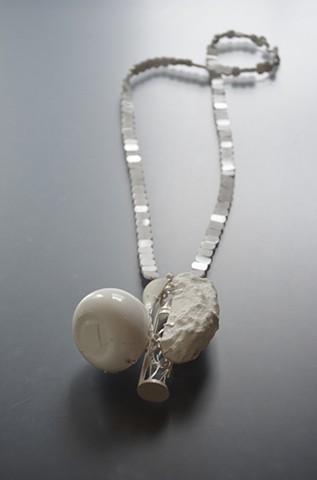 art jewelry contemporary necklace alternative materials Chauvet cave comet hourglass