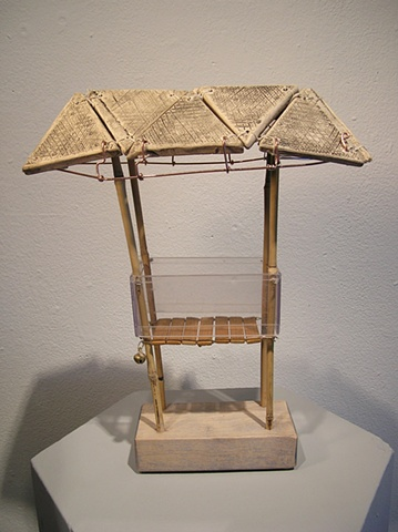 This piece is part of the series DWELL that explores shelters, dwellings, and other architectural forms