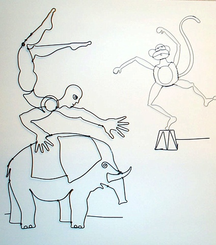 Acrobat on Elephant