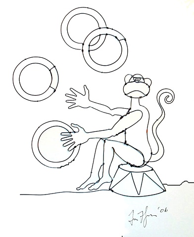 Ring Juggling Monkey