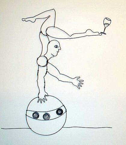 Acrobat On Ball