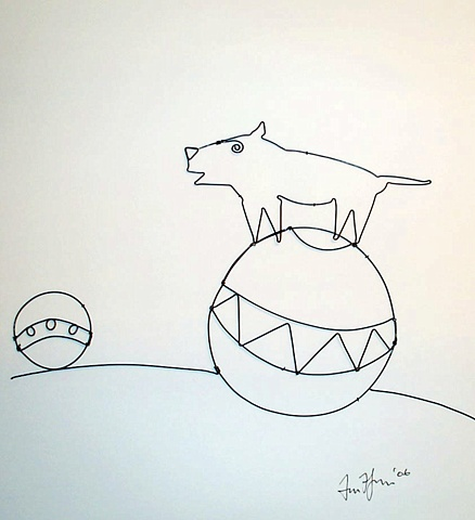 Dog On Ball