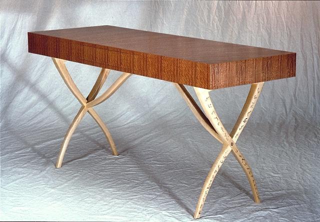 writing desk - figured sapele, maple, ebony