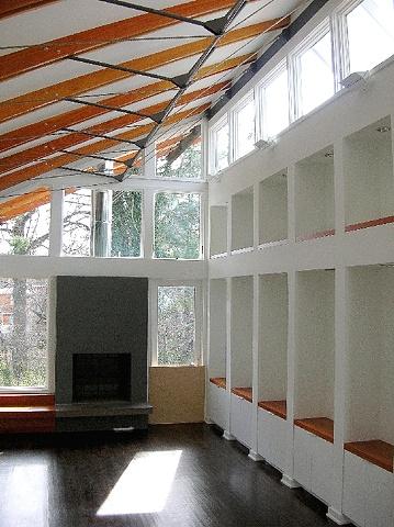 living room - mahogany