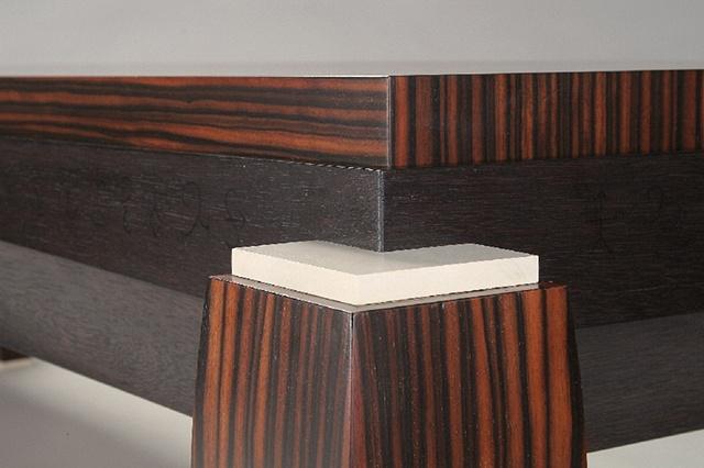 coffee table - ebony,mahogany,holly