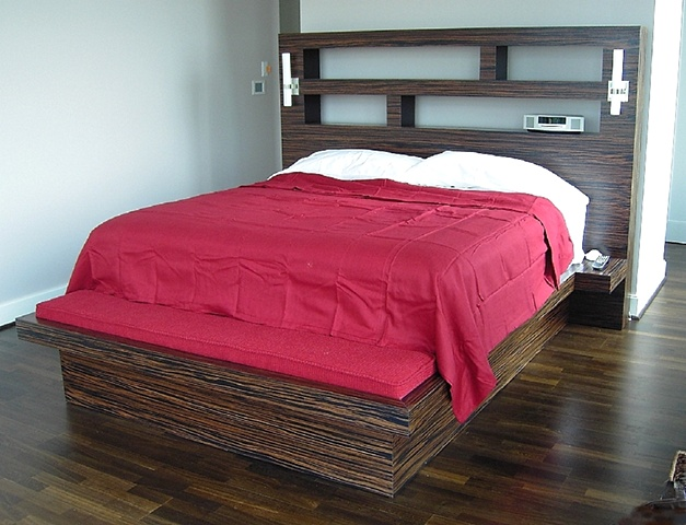 bed - macassar ebony