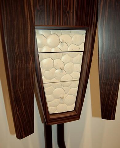 wall cabinet - ebony, holly, ebonized walnut