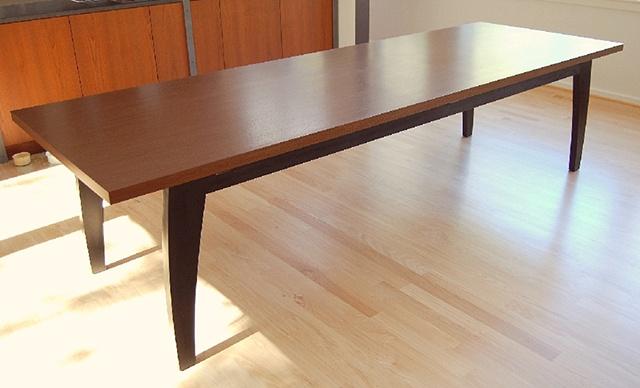 dining table - wenge, ebonized walnut